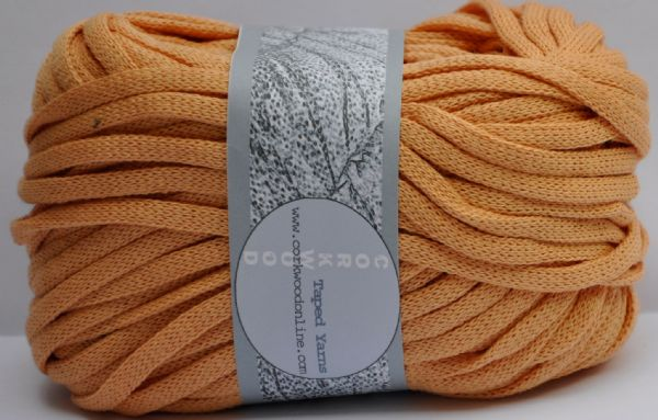 Peach cotton Chunky Tape yarn for knitting weaving and embellishing
